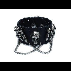 Jewelry - Ladies Skull faux leather Bracelet